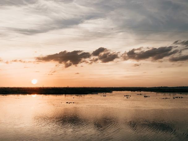 Sunset Over Paynes Prairie