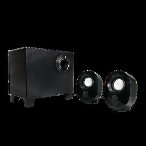 Stereo 2.1 Lautsprecher mit Subwoofer