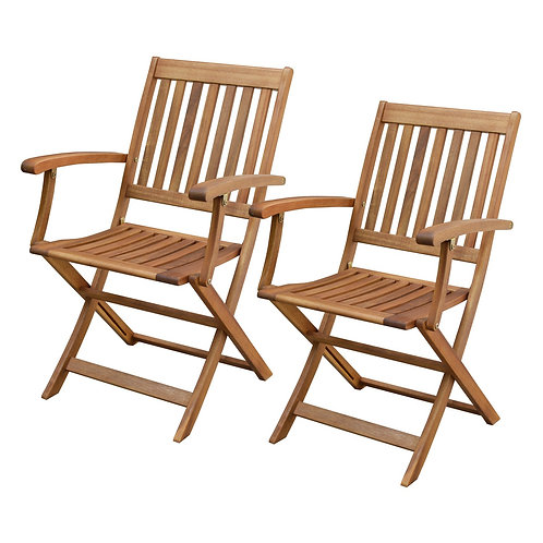 Stuhl aus Akazienholz faltbar im Doppelpack
