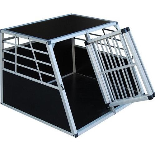 Alu Hundebox Doppelbox gross schwarz