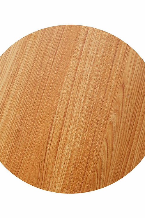 Tischplatte rund 30 cm braun