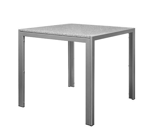 Granittisch 80 x 80 x 76 cm grau