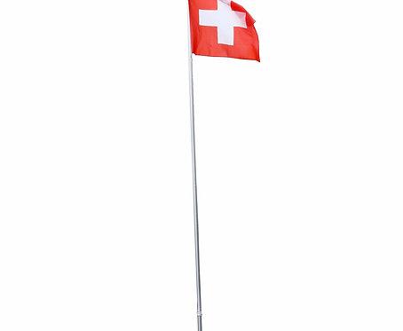 Fahnenmast 6.2 m mit Schweizer Fahne