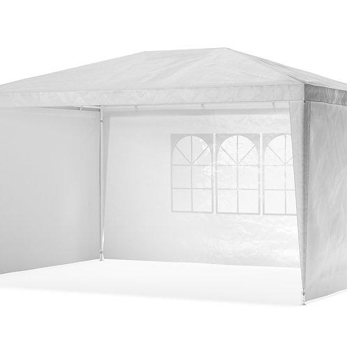 Gartenpavillon Partyzelt 3 x 4 m weiss inkl. 4 Seitenwände
