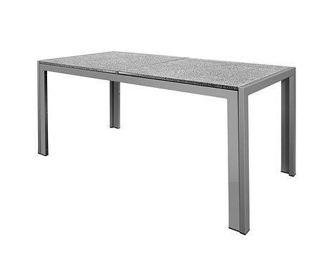 Granittisch 140 x 80 x 67 cm grau