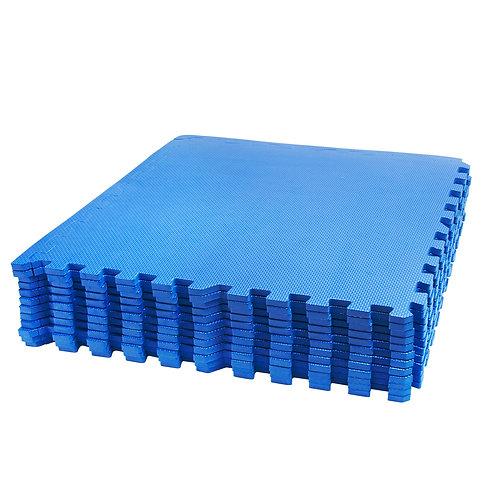 Bodenmatte 12er Set blau