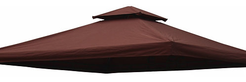 Dach für Gazebo 3 x 3 m braun Art. 9261