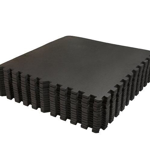 Bodenmatte 12er Set schwarz