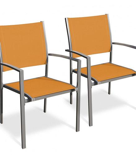 Gartenstühle 2er Set orange