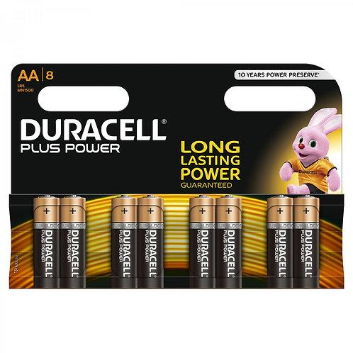 DURACELL Plus Power AA Batterien MN1500 8 Stk.