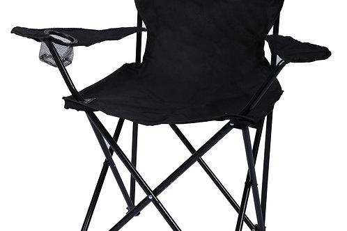 Campingstuhl 4er Set schwarz