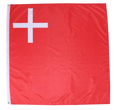 Kantonsflagge Schwyz 120 cm x 120 cm