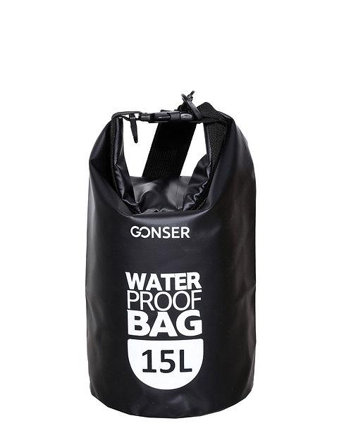 Dry Bag Tasche wasserdicht schwarz 15L