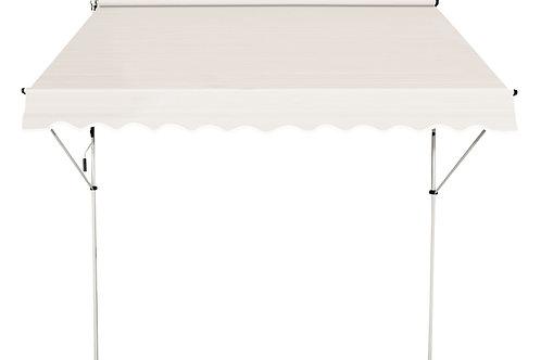 Balkonmarkise 250 x 120 cm beige