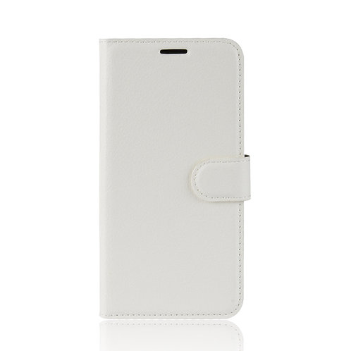 Lederetui für HTC U12 Life weiss