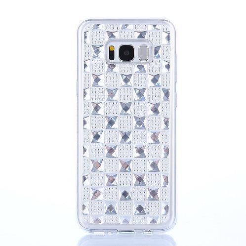 Handyhülle Diamant silber für Samsung Galaxy S8
