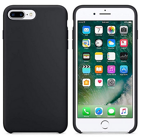 Schutzhülle für iPhone 8 Plus schwarz