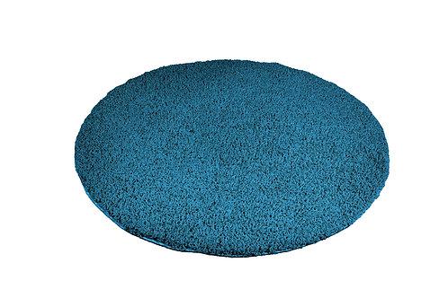 Hochflor Teppich rund 120 cm türkis