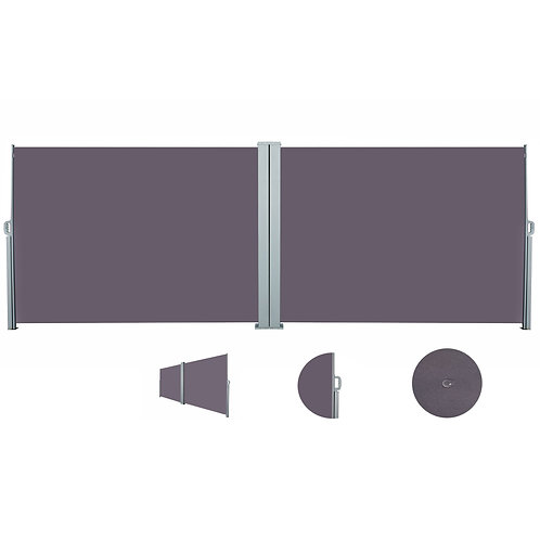 Doppelseitenmarkise 180 x 800 cm anthrazit
