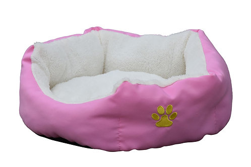 Hundebett PFÖTCHEN L pink