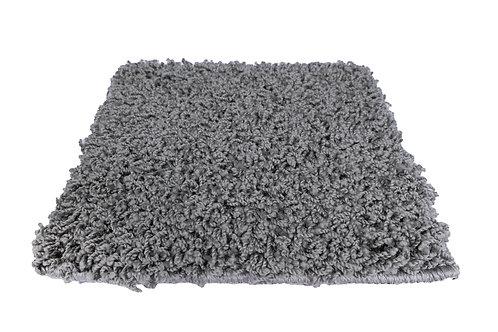 Hochflor Teppich 80 x 150 cm grau