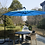 Thumbnail: Ampelschirm mit LED 300 cm blau
