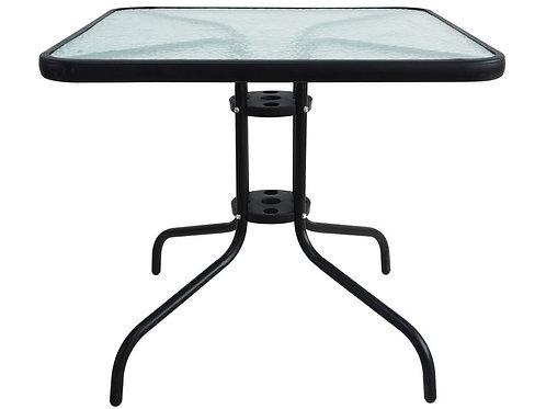 Gartentisch 60 x 60 cm schwarz