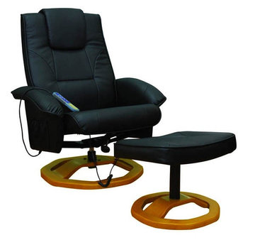 Relaxsessel mit Massagefunktion schwarz
