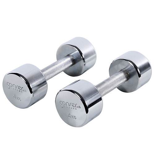 Kurzhantel ROCK Chrom 2 x 4 kg Set