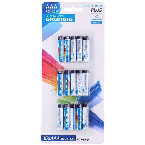 Grundig AAA Batterien 15er Set
