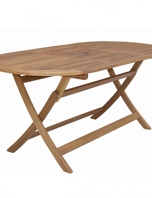Gartentisch oval aus Akazienholz