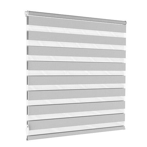 Doppelrollo grau 100 x 100 cm