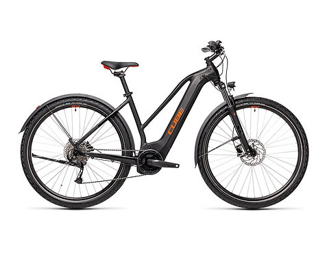 CUBE Nature Hybrid ONE 500 Lady Allroad black´n´red