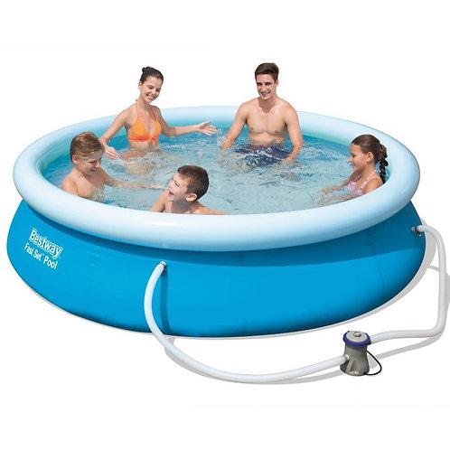 Bestway Swimming Pool Set mit Filterpumpe 305 x 76 cm