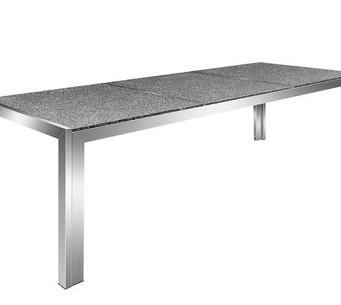 Granittisch Edelstahl 240 x 95 x 75 cm
