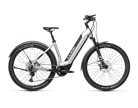Cube Nuride Hybrid SL 625 Easy Entry Allroad polarsilver´n´black  E-Bike Hardta