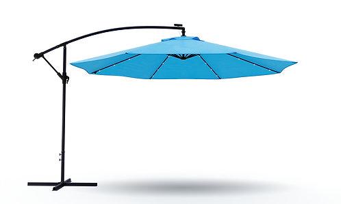 Ampelschirm mit LED 300 cm blau
