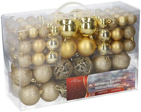 Weihnachtskugeln 100-teilig gold