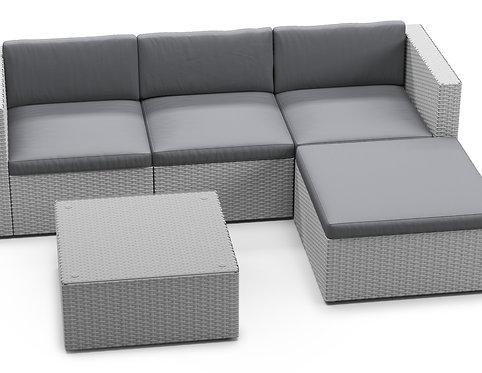 Ersatzkissen Lounge Malibu grau