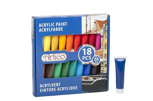 Acrylfarben-Set 18-teilig