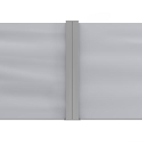 Doppelseitenmarkise 120 x 800 cm grau