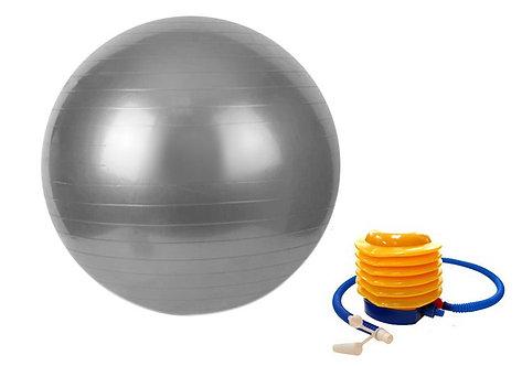 Gymnastikball 65 cm grau inkl. Pumpe