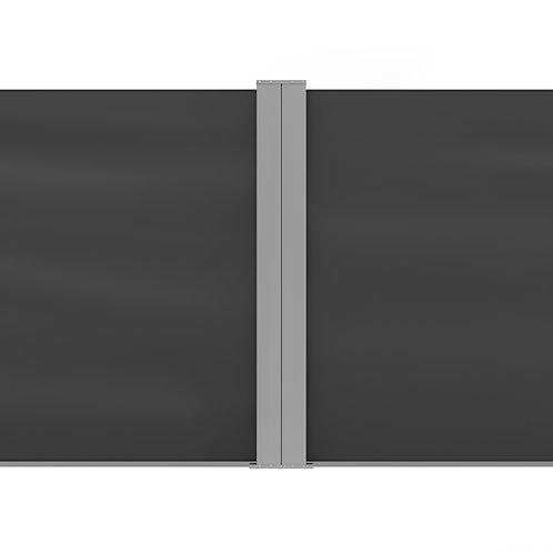 Doppelseitenmarkise 120 x 800 cm anthrazit