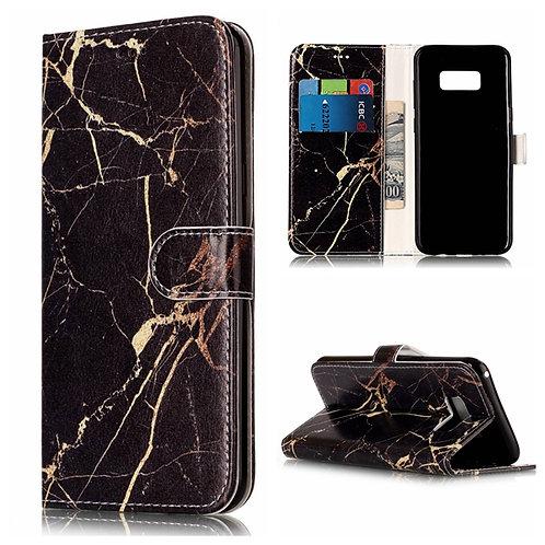 Handyhülle Etui Marmor schwarz Samsung Galaxy S8
