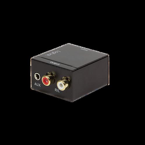 Audio-Konverter Koaxial und Toslink zu analog L/R und 3,5 mm Klinkenstecker