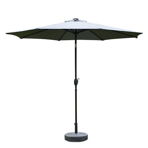 Sonnenschirm mit LED 300 cm anthrazit