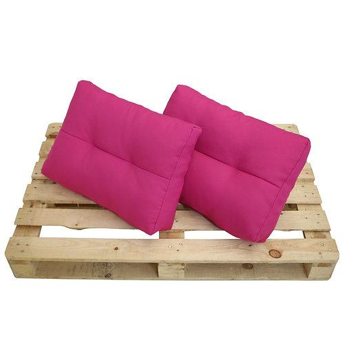 Palettenkissen Doppelpack für Palettenmöbel pink
