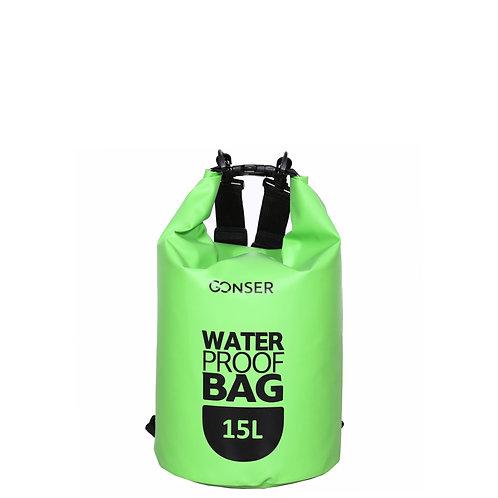 Dry Bag Tasche wasserdicht grün 15L