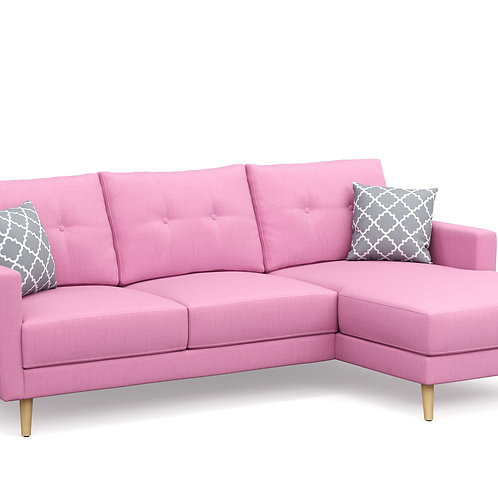 Ecksofa MANDY rechts pink