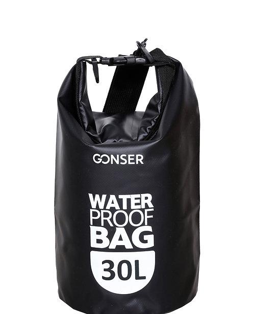 Dry Bag Tasche wasserdicht schwarz 30L